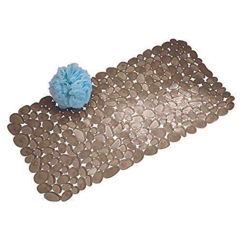 InterDesign Pebblz Suction Non-Slip Bath Mat for Shower, Bathtub, Stall, 26