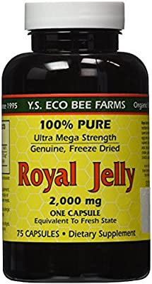YS Eco Bee Farms Royal Jelly 2,000 mg - 75 capsules