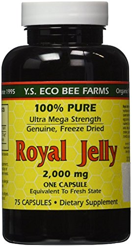 YS Eco Bee Farms Royal Jelly 2,000 mg - 75 Capsules (Pack of 2) by Y.S. Eco Bee Farms