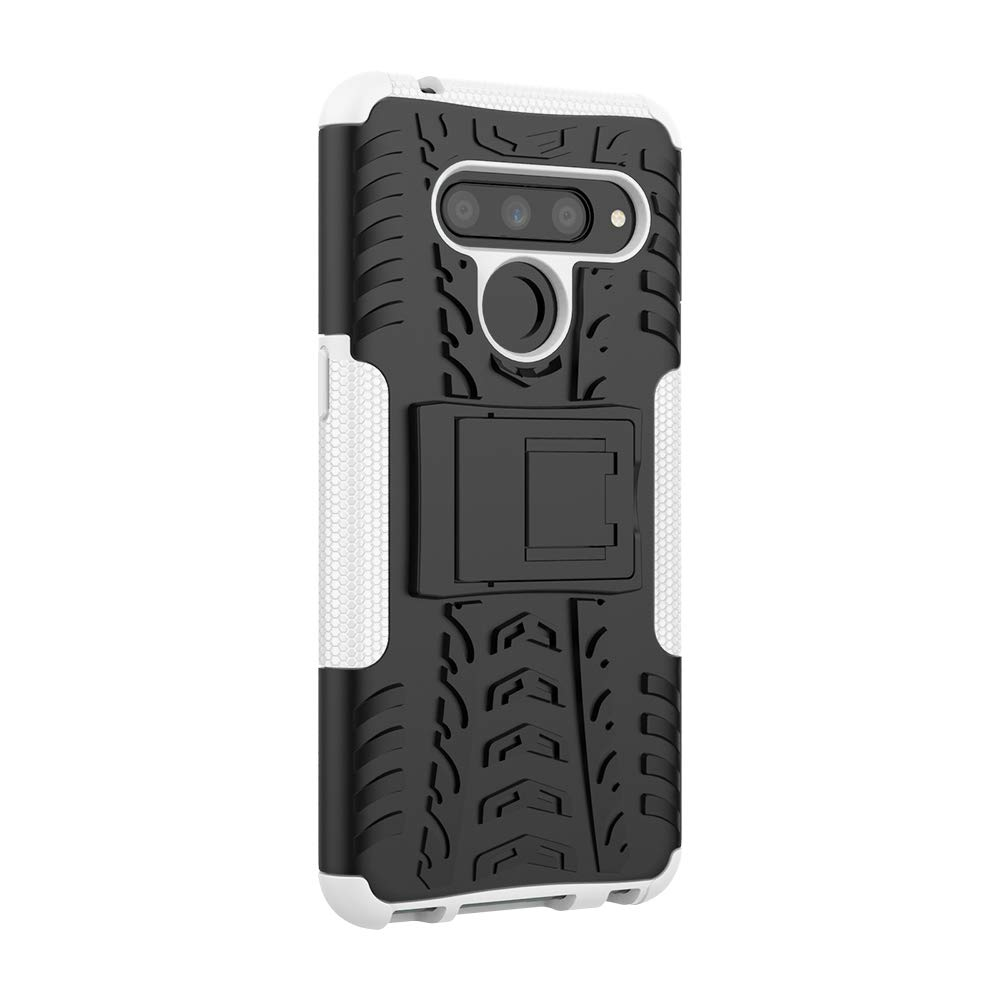 Berry Accessory LG V50 ThinQ Case,LG V50 Heavy Duty Protective Cover Dual Layer Hybrid Shockproof Protective Case with Kickstand Hard Phone Case Cover for LG V50 ThinQ//LG V50 Black
