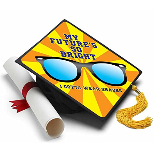 Future Is So Bright Grad Cap Tassel Topper - Decorated Grad (Your Future Is Bright)