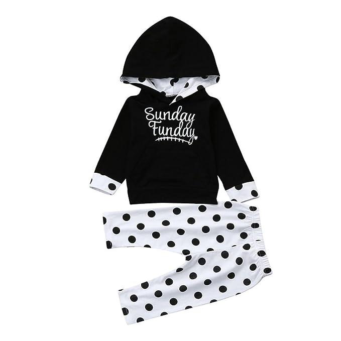 Baby Kleidung Huhu833 Kleinkind Baby Madchen Dot Hoodie Tops