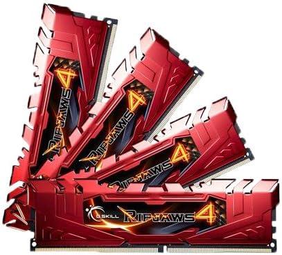 G.SKILL Ripjaws 4 سلسلة 32GB (4 x 8GB) 288-Pin DDR4 SDRAM DDR4 2666 (PC4-21300) ذاكرة سطح المكتب موديل F4-2666C15Q-32GRR