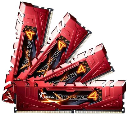 G.Skill F4-2400C15Q-32GRR Ripjaws 4 DDR4, 2400MHz, PC4-19200
