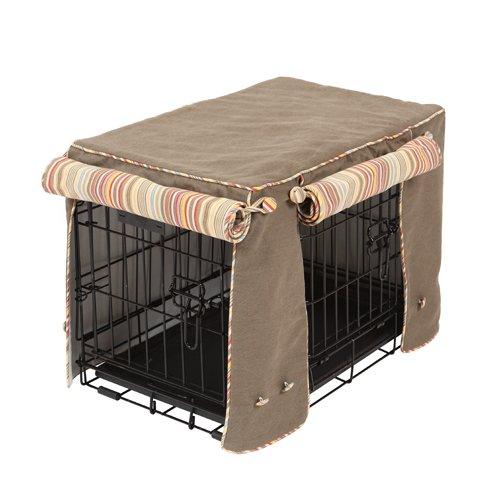 Crate Covers and More Caja Cubre y más Hazel Forestal con Sierra Cacao, Doble Puertas: Amazon.es: Productos para mascotas