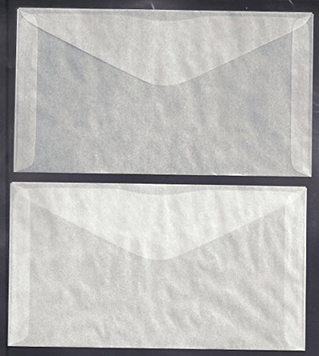 1,000 #6 Glassine Envelopes measuring 3 3/4 X 6 3/4 inches by