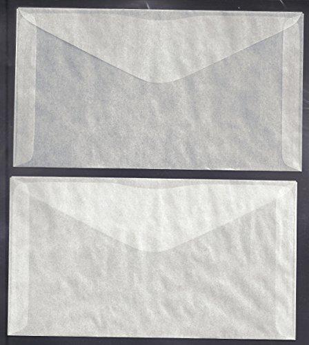 100 Glassine Envelopes #6 measuring 3 3/4 x 6 3/4 inches (100 Glassine Envelopes)
