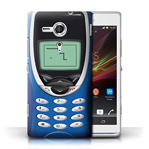 Etui / Coque pour Sony Xperia SP/C5303 / Nokia 8210 bleu conception / Collection de Portables rétro