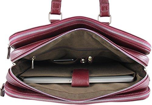 Zavelio Hombres de Negocios Maletín Messenger bolso bandolera de piel auténtica David marrón canela talla única granate