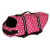 TESOON Dog Life Jacket Quick Release Easy-Fit Adjustable Pet Saver Life Jacket Dog Life Preserver Dog Life Vest