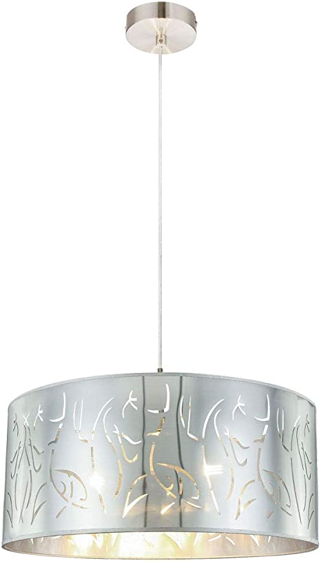 LED Design Decken Lampe silber Wohn Zimmer Beleuchtung Dekor Stanzungen Leuchte