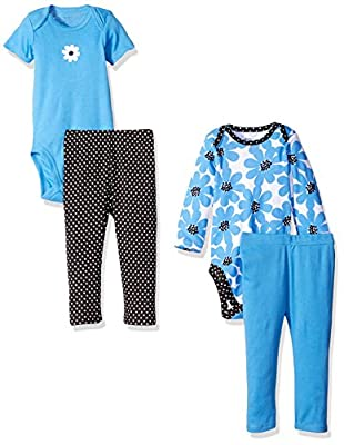 Gerber Baby Girls' 4 Piece Bodysuit and Pant Set by Gerber Children's Apparel that we recomend individually.