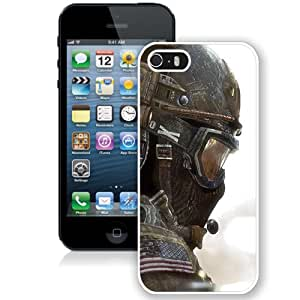 5S case,Call Of Duty Soldier Flag Mask Helmet White iPhone 5s cover