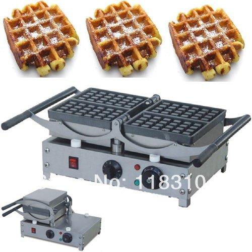 Turnable 220v Electric 4-Slice Belgian Liege Waffles Maker M