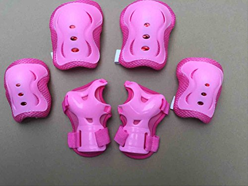 ASIBT Kid's Skateboard Helmet Sets Cycling Roller Skating Helmet Elbow Knee Pads Wrist Sport Safety Protective Guard Gear Set for Children of age 3-8 years old (Pink) by ASIBT (Image #4)