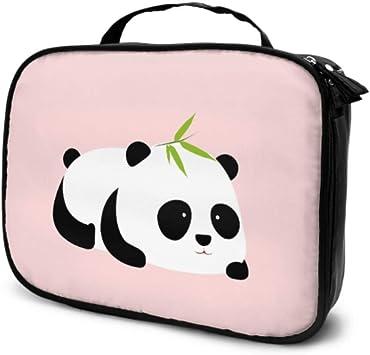 Estuche de Maquillaje de Viaje Panda Gigante de Dibujos Animados Lindo para niños Bolsa de Aseo Grande para Mujeres Bolsa de cosméticos de Belleza Bolsa Impresa multifunción para Mujeres: Amazon.es: Equipaje