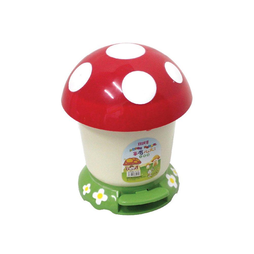 SHENGZ Kitchen Garbage Bin Trash Can Step Foot Pedal Lid Home Bathroom Children Kids Bedroom