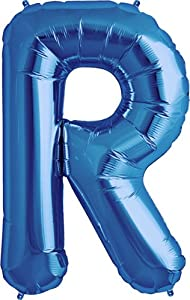 Amazoncom letter r blue helium foil balloon 34 inch for Foil letter balloons amazon