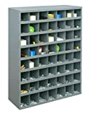 Durham 361-95 Gray Cold Rolled Steel 56 Opening Bin with Slope Self Design, 33-3/4'' Width x 42'' Height x 12'' Depth