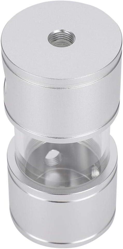 ASHATA Water Cooling Tank,Acrylic Anodized Aluminum 50MM External Diameter Metal Transparent Cylinder Water Tank for Computer Water Cooling