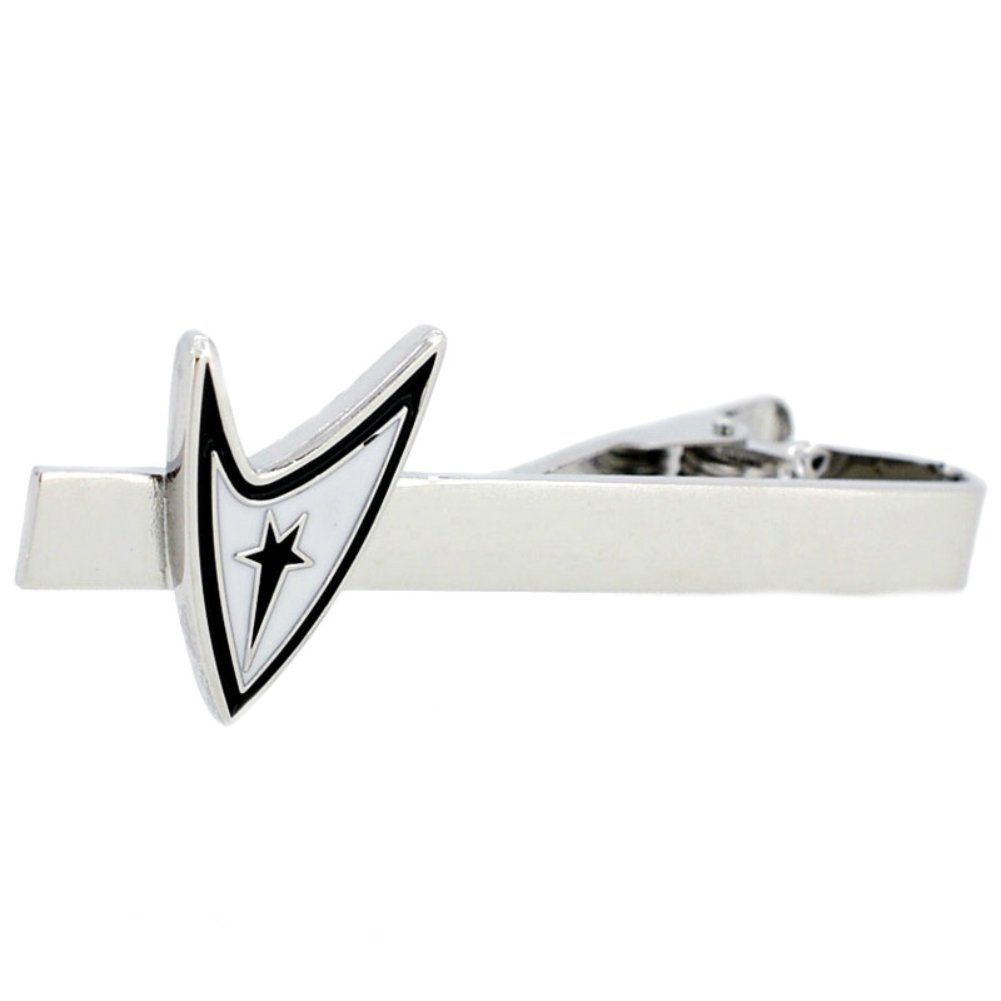 Startrek Starfleet Logo Men's Boys Tie Clip Tie Bar with Gift Box
