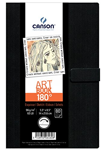 - Canson 180 Degree Art Book Paper Pad, Hardbound, 5.5 x 8.5 Inch, 80 Sheets