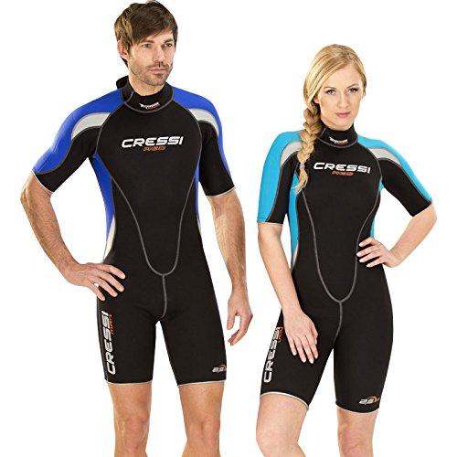 輝い Cressi メンズ Med Large/4 Shorty ウェットスーツ Med B0175E3FHS メンズ Black Aqua, Women's Large/4, オイダ額椽:46772724 --- diesel-motor.pl