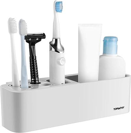 WEIHEEE Strawberry Toothbrush Holder Wall-Mounted Wafer Storage Rack Multifunctional Toothbrush Drain Rack Bathroom Decoration,Strawberry