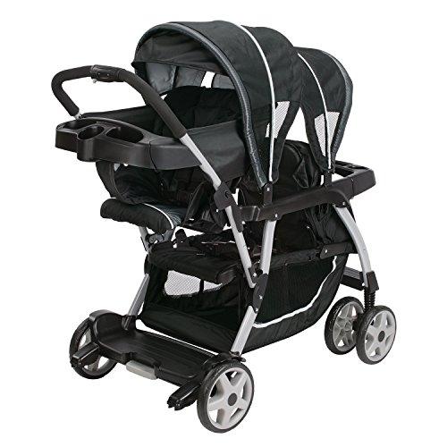 519TOpZCPPL - Graco Ready2Grow LX Double Stroller | Lightweight Double Stroller, Gotham