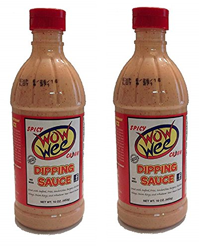Wow Wee Spicy Cajun Dipping Sauce, 16 Fluid Ounce Bottle (Pack of 2, 32 Ounces Total)