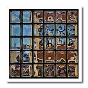 ht_56012_1 Chris Lord New York - Glass Bricks Window Subway Station - Iron on Heat Transfers - 8x8 Iron on Heat Transfer for White Material