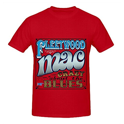 Thing About Crewneck T-shirt - Fleetwood Mac Crazy About The Blues Tour Soul Mens Crew Neck Digital Printed T Shirts Red