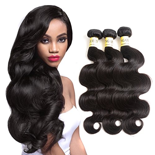 Brazilian Virgin Hair Body Wave 3 Bundles 100% Unprocessed Virgin Human Hair Extensions Natural Color (100+/-5g)/pc