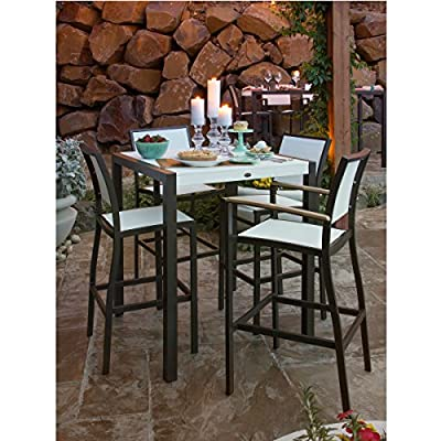POLYWOOD Bayline Outdoor 7 Piece Patio Dining Set - Aluminum Casual Sling - patio-furniture, dining-sets-patio-funiture, patio - 519TPnx7KML. SS400  -