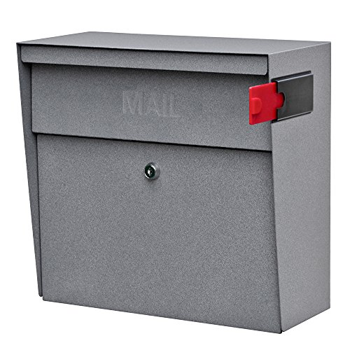 - Mail Boss 7161 Metro Locking Security Wall Mount Mailbox, Granite