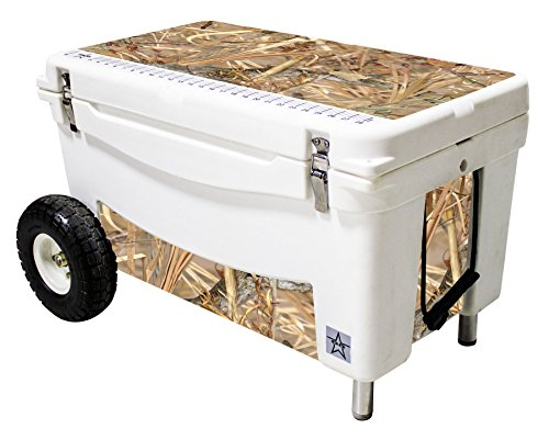 Frio Ice Chests Extreme Wheeled White Hard Side with King's Camo Field Theme Vinyl Wrap and Built-In Motion Sensitive Light Bar with Bottle Openers, 65 qt by Frio Ice Chests