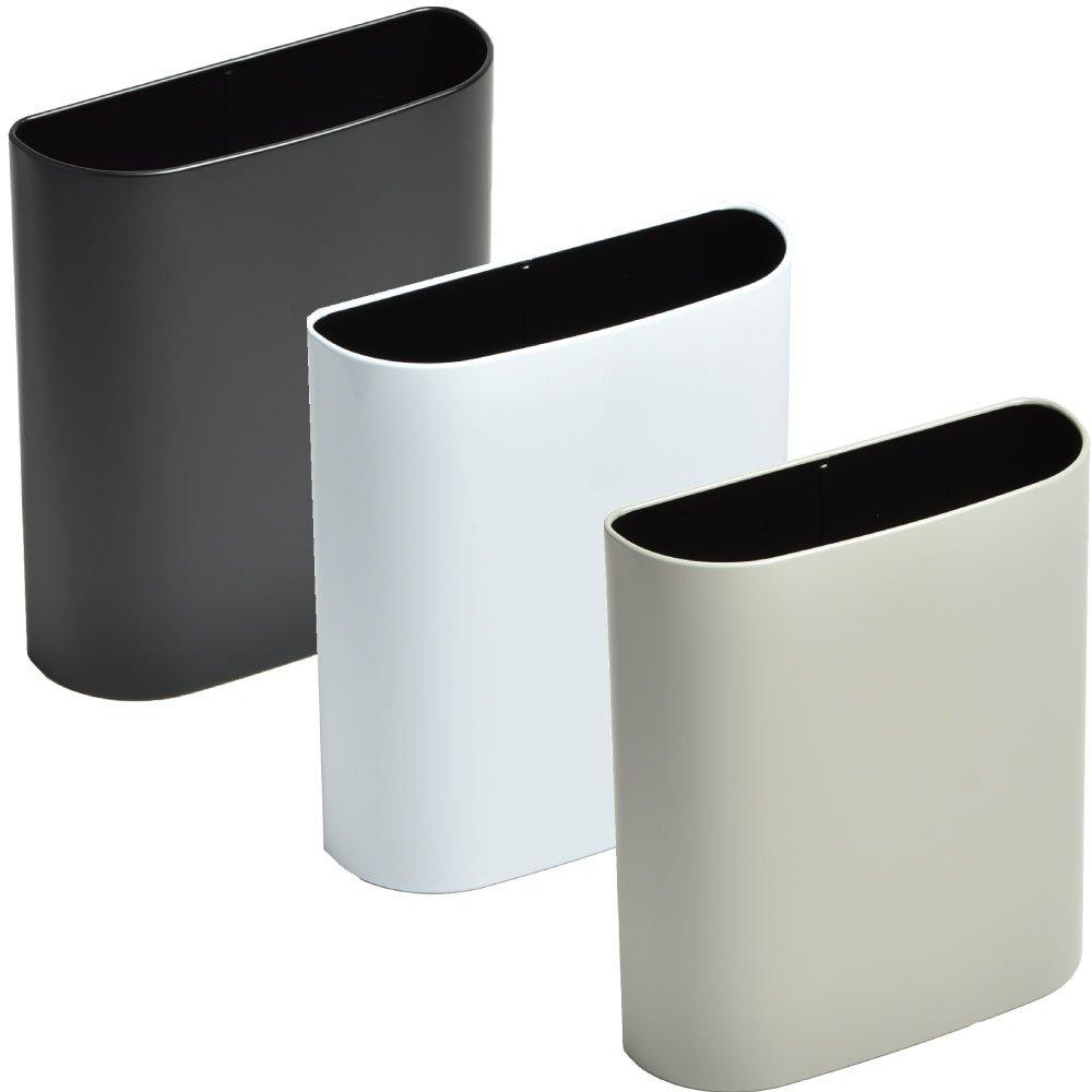 ぶんぶく マグネットバケット 全9色の中から選べる3個セット ゴミ箱 ごみ箱 ダストボックス おしゃれ 日本製 (ブラック×ホワイト×グレー) B075K4DG6Q ブラック×ホワイト×グレー ブラック×ホワイト×グレー