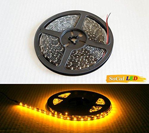 SoCal-LED 5M 16.4ft Yellow/Amber Flexible LED Strips High...