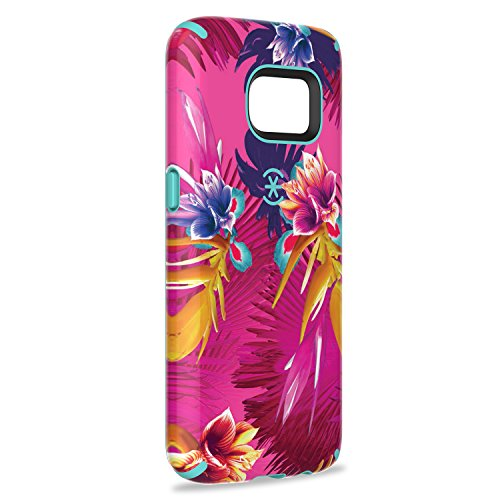 Speck Products Samsung Galaxy S7 Case, CandyShell Inked Case (Wild Tropic Fuchsia/Mykonos Blue), Protective Case