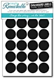 Simply Remarkable Reusable Chalk Labels - 60 Circle Shape 1.25' Adhesive Chalkboard Stickers, Light Material with Removable Adhesive