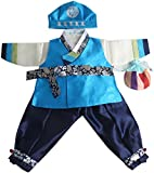 Korean hanbok boys babys traditional costumes birthday party 1-14 AGES hb058 (1 age)