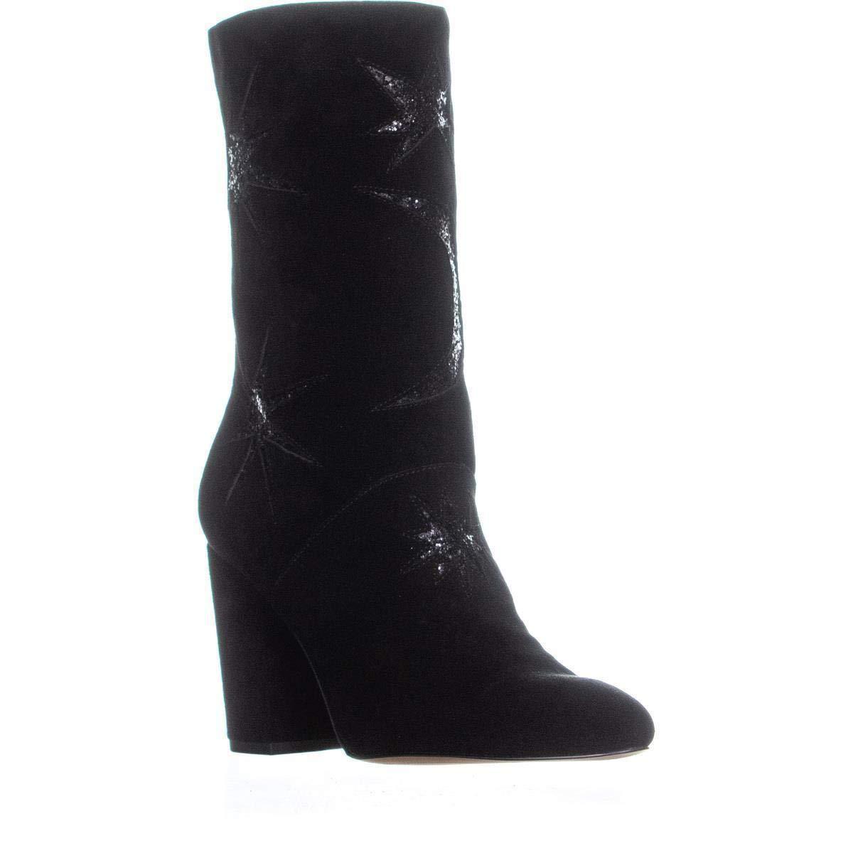 Black Suede Glitter Avec Les Filles Womens Nikita Suede Glitter Ankle Boots