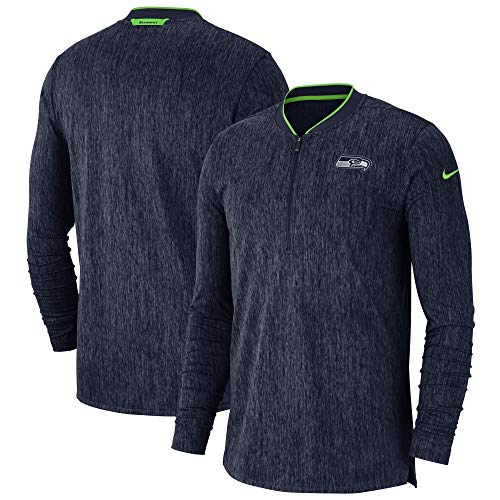 - Nike Seattle Seahawks Sideline Coaches Half-Zip Pullover Jacket (XX-Large)