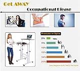 AIZ Mobile Standing Desk, Adjustable Computer Desk