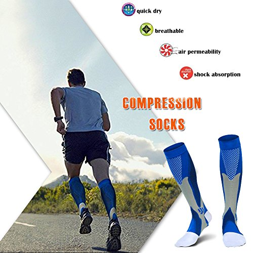 Compression Socks Men Women Athletic Sports Support Socks for Running, Exercise, Workout, Gym, Fit, Travel, 20-30 mmHg