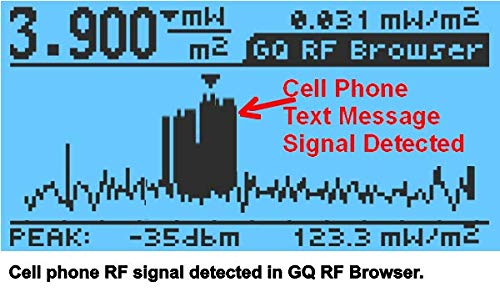 Advanced GQ EMF-390 Multi-Field Electromagnetic Radiation 3-in-1 EMF ELF Meter RF Spectrum Analyzer Ghost, Cell Tower Smart Meter Hidden WiFi Signal Detector RF up to 10GHz with Data Logger by GQ (Image #6)