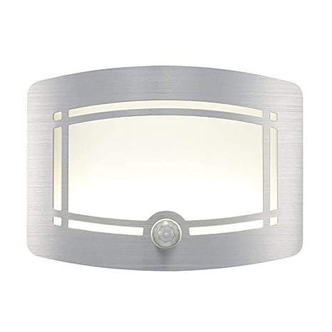 Movimiento Sensor de movimiento infrarrojo inalámbrico luz Sensor LED noche luz novedad batería con porche noche