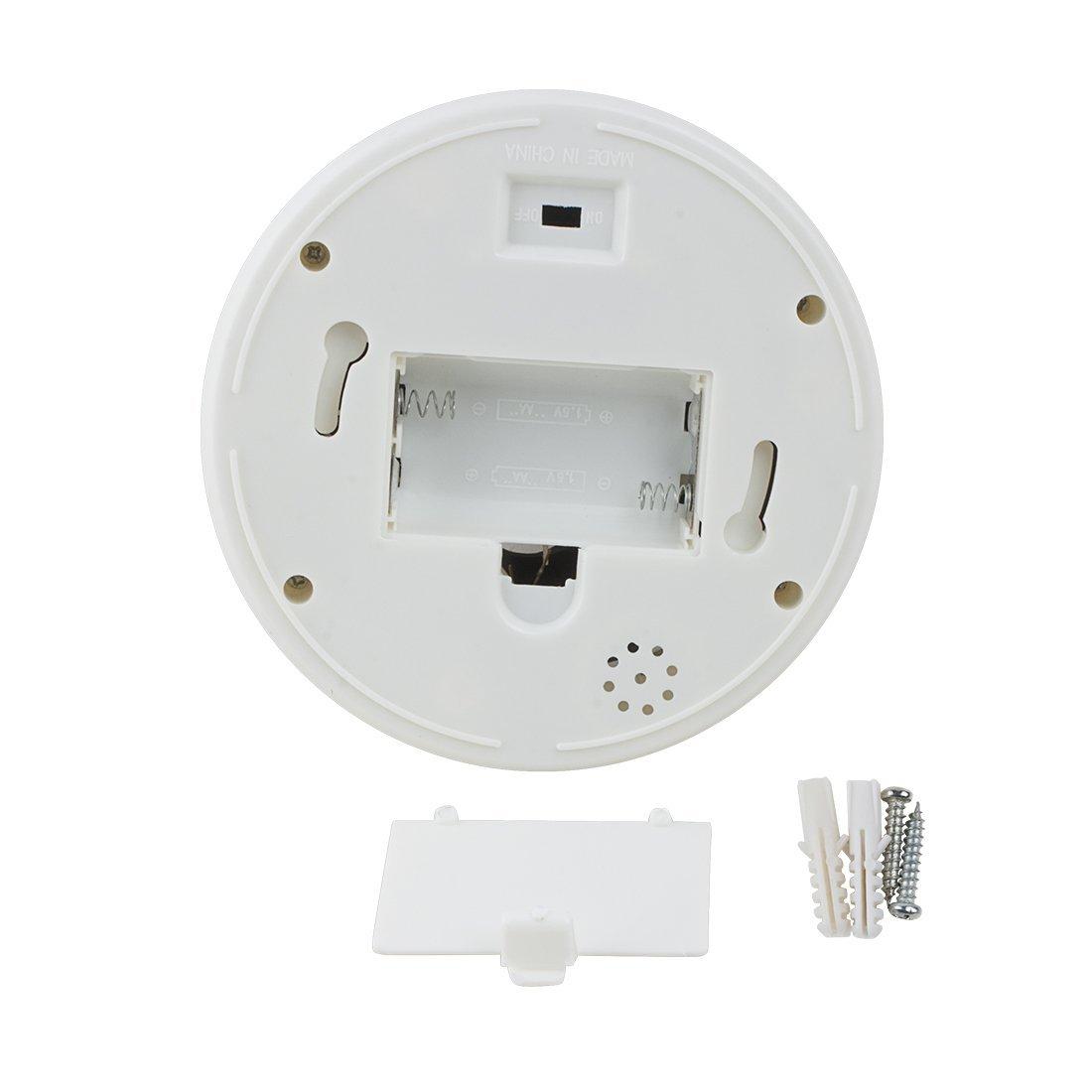 Amazon.com: eDealMax simulada falsa seguridad de la vigilancia CCTV al aire Libre de Interior Con luz roja LED AA Con pilas: Electronics