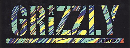 Grizzly Griptape Melter Stamp Skateboard Sticker - 20.5cm wi