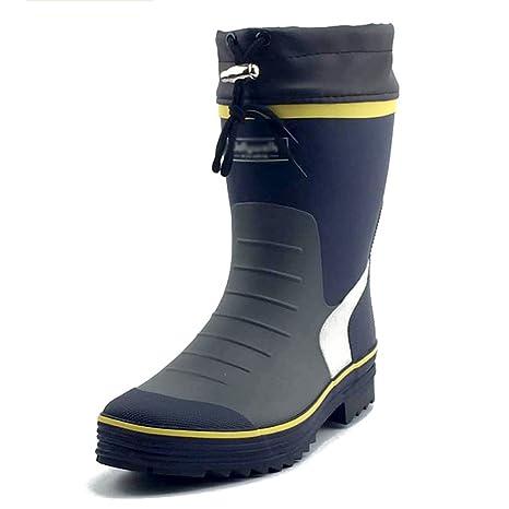 Stivali da pioggia Uomo Scarpe da acqua Calzature da pesca Tubo intermedio  impermeabile Antiscivolo Primavera ed ... 0626acc3aad